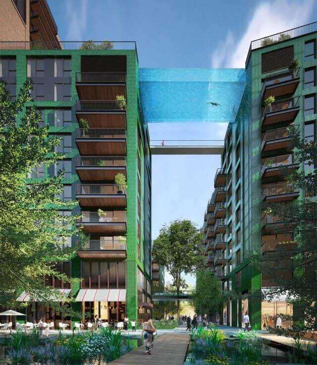 London Sky Pool | Photo Credits: Ballymore Group